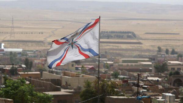 Christian Assyrian flag. File photo - Sputnik International