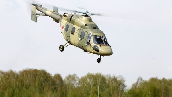 The helicopter Ansat is demonstrated at the testing facility of the OAO Kazan Helicopter Plant, part of the Helicopters of Russia, a Russian helicopter building holding - Sputnik International