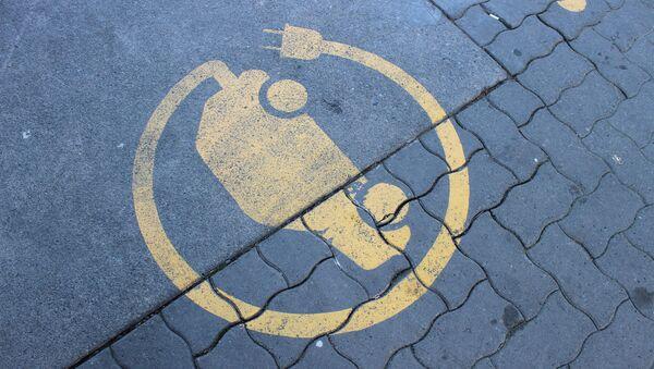Electric Car Charging Station Symbol - Sputnik International