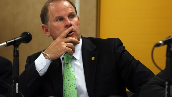University of Missouri President Tim Wolfe participates in a news conference in Rolla, Mo. - Sputnik International