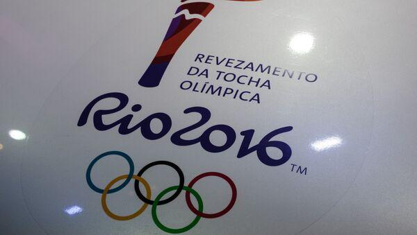 View of a Rio 2016 Olympic torch logo at the Jockey Club in Rio de Janeiro, Brazil - Sputnik International
