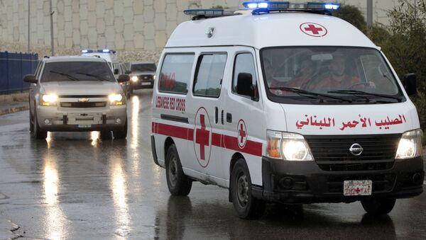 A convoy of Lebanese Red Cross ambulances - Sputnik International
