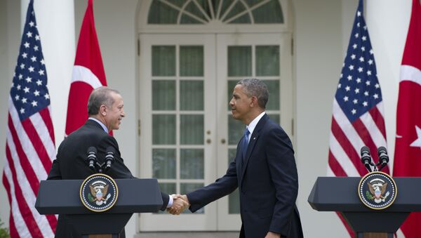US President Barack Obama and Turkey's President Recep Tayyip Erdogan - Sputnik International