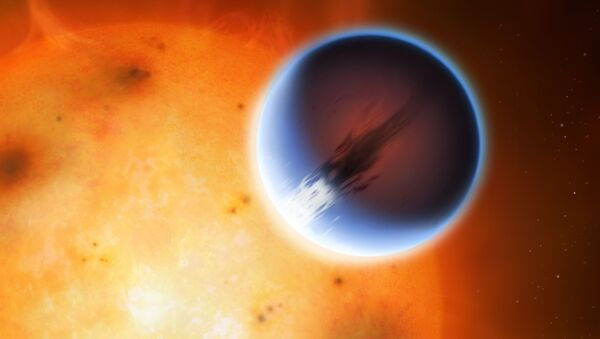 The planet HD 189733b is shown here in front of its parent star - Sputnik International