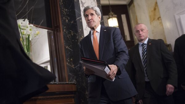 US Secretary of State John Kerry arrives for a conference on the Syria conflict in Vienna, Austria, on November 14, 2015 - Sputnik International