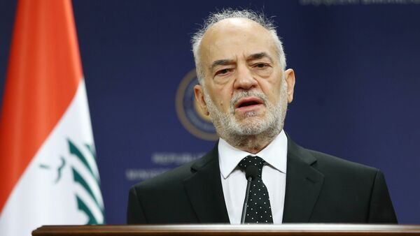 Iraqi Foreign Minister Ibrahim al-Jaafari addresses the media during a joint press briefing with his Turkish counterpart, within their meeting at the Foreign Ministry building in Ankara on July 14, 2015 - Sputnik International