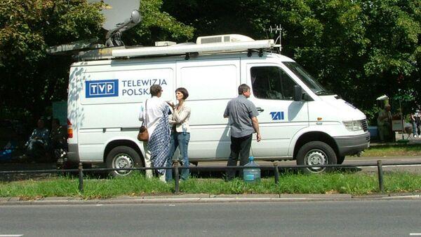 TVP news van. - Sputnik International