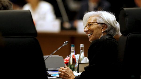 International Monetary Fund (IMF) Managing Director Christine Lagarde participates in a working session on the global economy with fellow world leaders at the start of the G20 summit at the Regnum Carya Resort in Antalya, Turkey, November 15, 2015 - Sputnik International