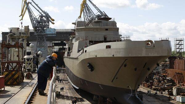 The landing craft Ivan Gren, built for the Russian Defense Ministry, at the Yantar Shipyard, Kaliningrad. - Sputnik International