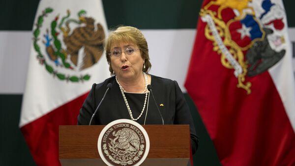 Chile's President Michelle Bachelet. File photo - Sputnik International