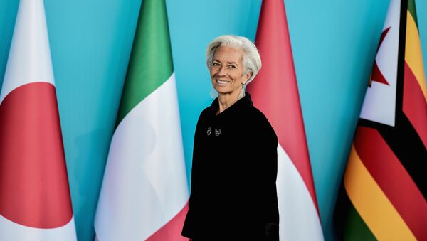 Christine Lagarde, Managing Director of the IMF attends to the G20 Leaders Summit welcoming ceremony on November 15, 2015 in Antalya - Sputnik International