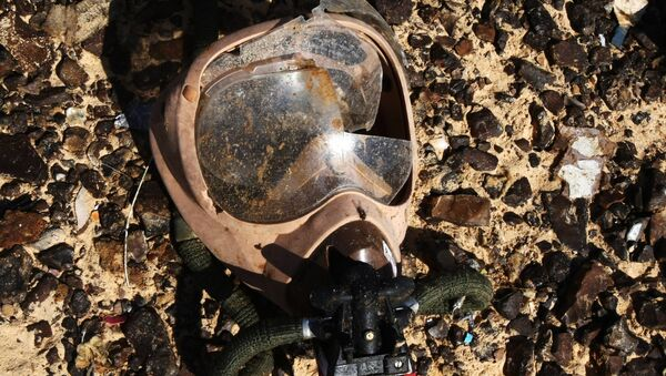 An oxygen mask on the crash site of the Airbus A321 that was carrying out Kogalymavia Flight 9268 from Sharm el-Sheikh to St. Petersburg, 100 km south of El Arish in the northern Sinai Peninsula - Sputnik International