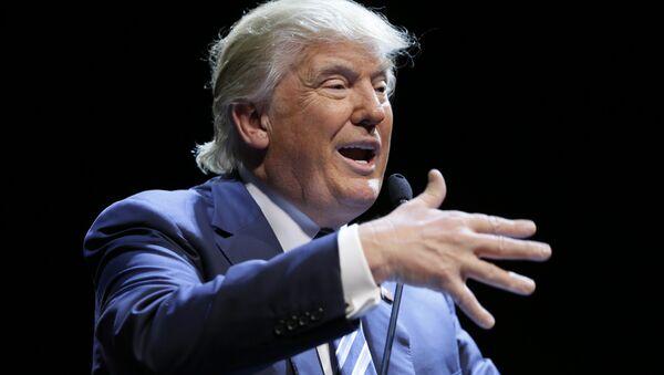 Donald Trump speaks. - Sputnik International