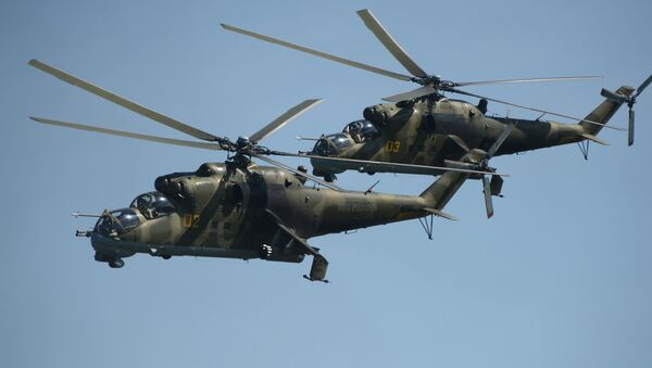 Russian Mi-24 helicopters - Sputnik International