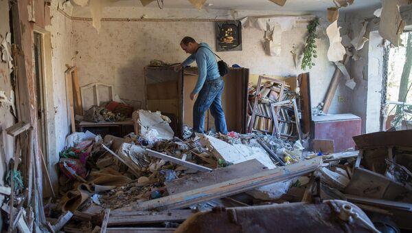 Aftermath of night shelling of Donetsk's Gorlovka by the Ukrainian military - Sputnik International