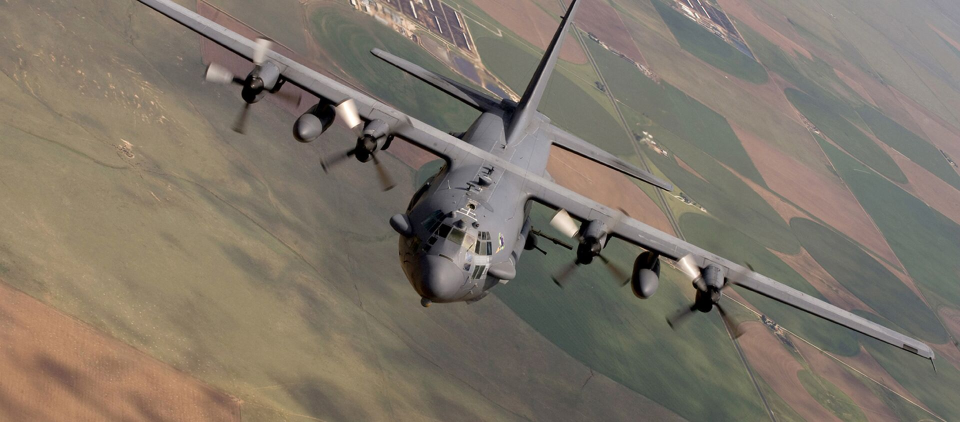 AC-130 Spectre from the 16th Special Operations Squadron flying a training mission at Cannon Air Force Base, N. M. Inside the intensive care unit of the Doctors Without Borders hospital in Northern Afghanistan in the early hours of Oct. 3, 2015 - Sputnik International, 1920, 07.08.2021
