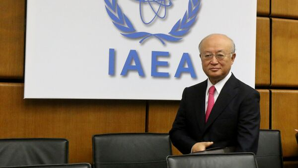 Director General of the International Atomic Energy Agency, IAEA, Yukiya Amano of Japan waits for the start of the IAEA board of governors meeting at the International Center in Vienna, Austria, Monday, Sept. 15, 2014 - Sputnik International