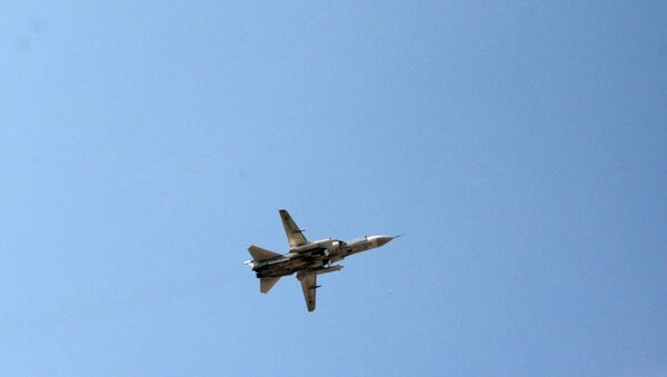 Russian Sukhoi Su-24 jet takes off from Hmeymim Air Base in the Latakia province, Syria. - Sputnik International