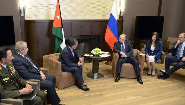 Russian President Vladimir Putin meets with King Abdullah II of Jordan - Sputnik International
