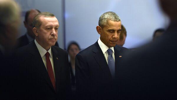 U.S President Barack Obama and Turkey's President Recep Tayyip Erdogan - Sputnik International