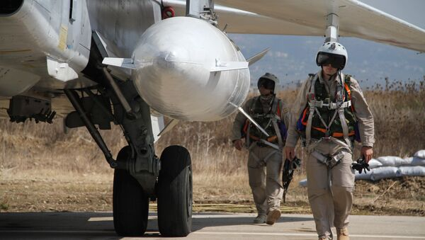 Russian military air group at Hmeymim airbase in Syria. file photo - Sputnik International