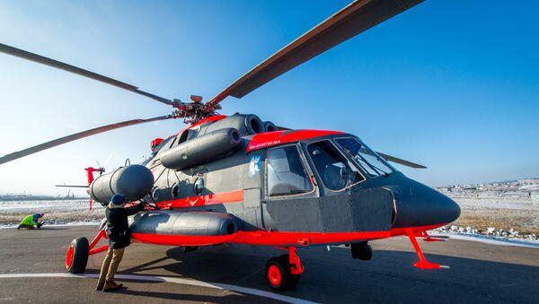Flight tests of the Mil Mi-8AMTSH-VA Arctic helicopter at the Ulan-Ude Aviation Plant - Sputnik International