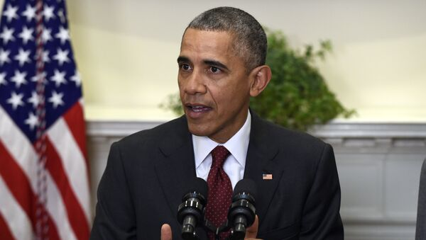 President Barack Obama speaks in the Roosevelt Room of the White House in Washington, Wednesday, Nov. 25, 2015, to brief the public on the nation's homeland security posture heading into the holiday season, following meeting with his national security team - Sputnik International