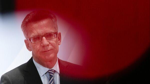 German Interior Minister Thomas de Maiziere - Sputnik International