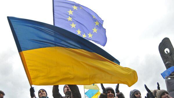 Participants of a rally held by supporters of Ukraine's EU integration. File photo - Sputnik International