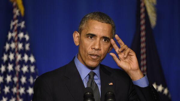 US president Barack Obama speaks during a press conference on December 1, 2015 at the Organisation for Economic Co-operation and Development (OECD) in Paris - Sputnik International