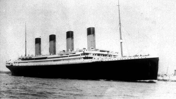 Undated file photo of the doomed liner the S.S. Titanic. Salvage operators hope to raise a large chunk of the British liner, which sunk on it's maiden voyage 84 years ago, when it struck an iceberg in the north Atlantic. More than 1500 people died in the icy waters of the Atlantic when Titanic sank. - Sputnik International
