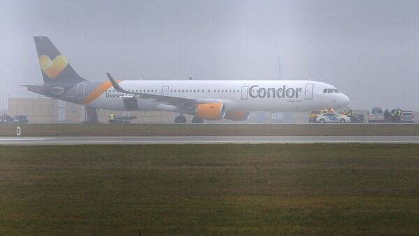 A Condor airlines Airbus A321 stands on the tarmac at the airport in Budapest, Hungary - Sputnik International