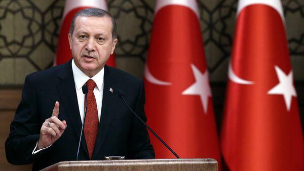 Turkey's President Recep Tayyip Erdogan addresses a meeting in Ankara, Turkey, Thursday, Dec. 3, 2015 - Sputnik International