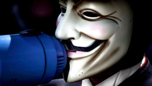 Anonymous mask - Sputnik International