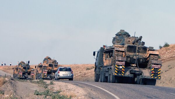 Tanks of the Turkish army at the Turkey-Iraq border . (File) - Sputnik International
