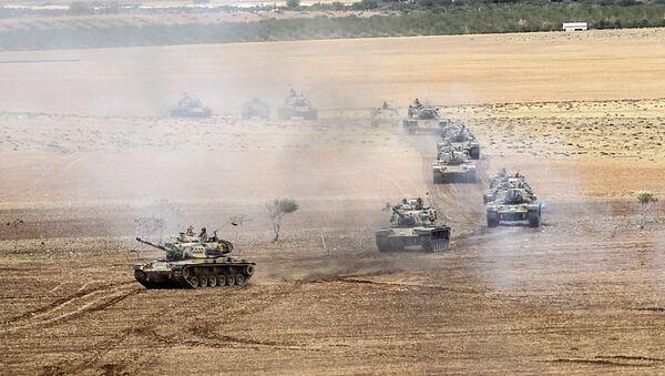 Turkish army tanks. File photo - Sputnik International