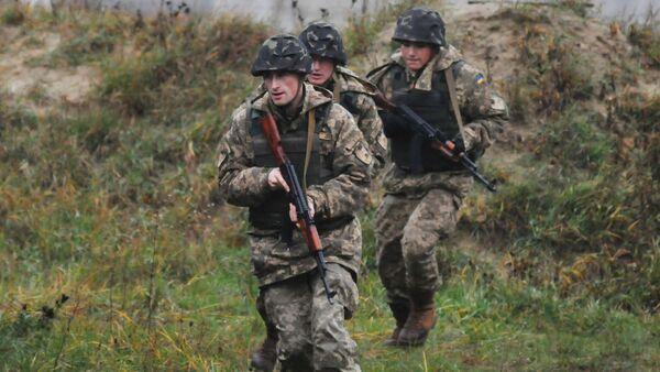 Ukrainian military personnel - Sputnik International