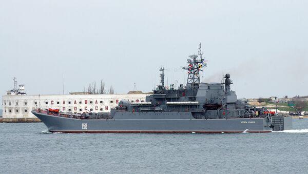 Large class landing ship Caesar Kunikov. File photo - Sputnik International