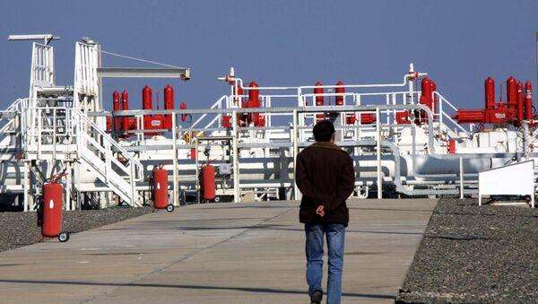 A worker walks towards an installation at the Blue Stream gas pipeline in Samsun, northern Turkey, 16 November 2005 - Sputnik International