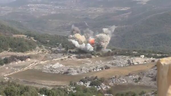 The fight against militants in the area Nabiyonis LIH. Syria. - Sputnik International