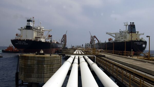 Two oil tankers, the Turkish Ottoman Dignity, right, and the Spanish Sandra Tapias, sit at Ceyhan oil terminal in this June 22, 2003 photo - Sputnik International
