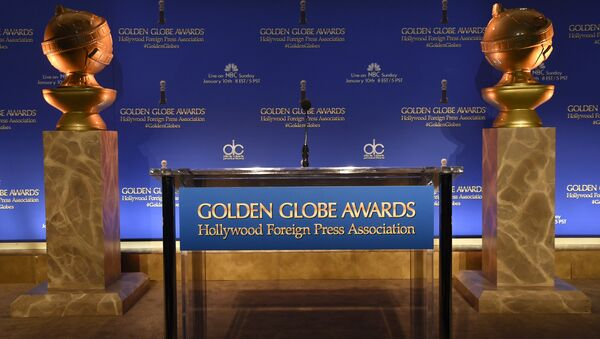 Golden Globe statues are seen at the 73rd annual Golden Globe Awards nominations at the Beverly Hilton hotel on Thursday, Dec. 10, 2015, in Beverly Hills, Calif - Sputnik International