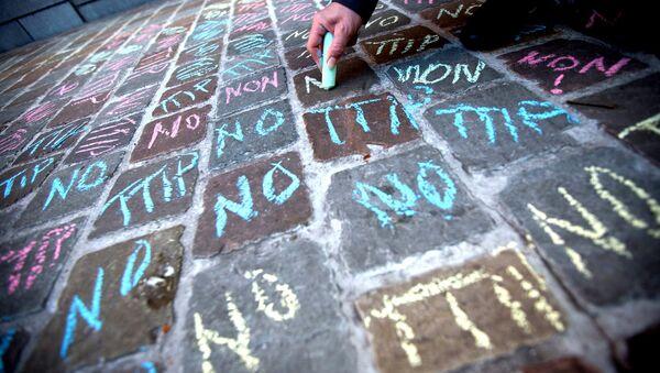 No TTIP writings in chalk - Sputnik International