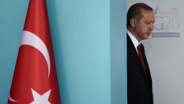 Turkish President Recep Tayyip Erdogan attends to the G20 Leaders Summit welcoming ceremony on November 15,2015 in Antalya - Sputnik International