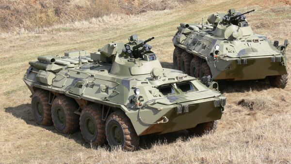 BTR-82 and BTR-82A armored personnel carriers - Sputnik International