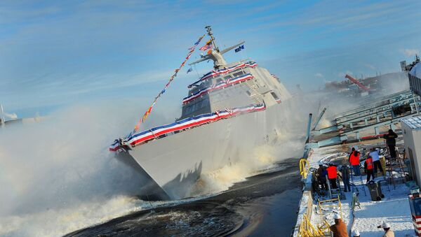 The Lockheed Martin-led industry team celebrated the launch of the nation's fifth Littoral Combat Ship, the future USS Milwaukee. (File) - Sputnik International