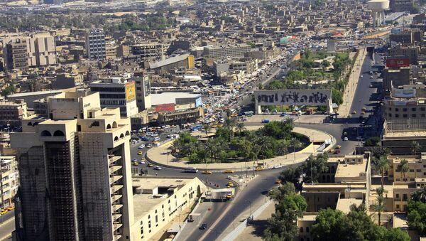 An aerial view of Tahrir Square in downtown Baghdad, Iraq - Sputnik International