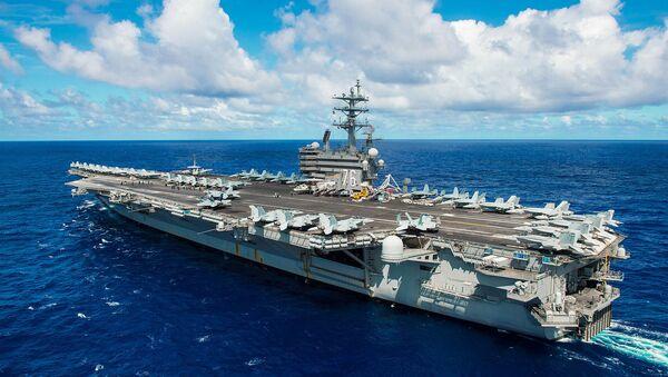 The aircraft carrier USS Ronald Reagan - Sputnik International