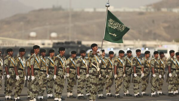 Saudi security forces take part in a military parade in preparation for the annual Hajj pilgrimage in Mecca, Saudi Arabia, Thursday, Sept. 17, 2015 - Sputnik International