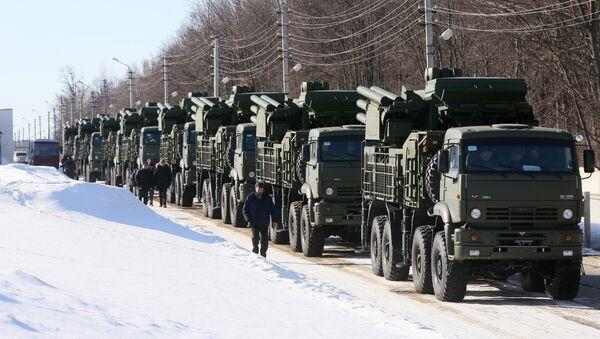 Pantsir-S1 combined short to medium range surface-to-air missile weapon system. File photo - Sputnik International